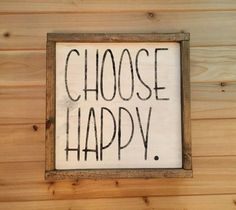 Make it a great day or not, the choice is yours! choose happy ;)  **THIS IS A MADE TO ORDER ITEM** ITEMS ARE HANDMADE STARTING AT THE TIME OF PURCHASE. PLEASE allow 1-2 weeks for item to be created. This sign measures about 13.5 x 13.5. Looks great in gallery walls or any room in the house. The sign is painted in distressed white and painted with black for wording. This is the perfect addition to any gallery wall, mantle or shelf and will remind anyone who looks at it to Choose Happy. Comes…