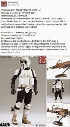 """ARCADIA Shop: STAR WARS 12"""" SCOUT TROOPER AF & SPEEDER BIKE"""