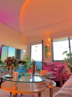 Room Ideas Bedroom, Bedroom Decor, Indie Room, Dream Apartment, Retro Apartment, Colorful Apartment, Aesthetic Room Decor, Dream Home Design, Home And Deco