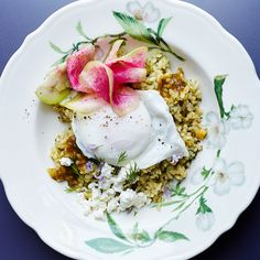 Sqirl sorrel rice bowls with poached eggs