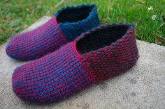 Ravelry: afu09 Tunisian Crochet Room Shoes B pattern by Clover Japan