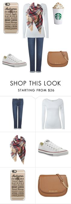 """fall"" by a-hidden-secret ❤ liked on Polyvore featuring Frame Denim, White Stuff, Converse, Casetify and MICHAEL Michael Kors"