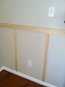 how 50 worth of wood totally transformed a wall, architecture, diy, home decor, home improvement, kitchen design