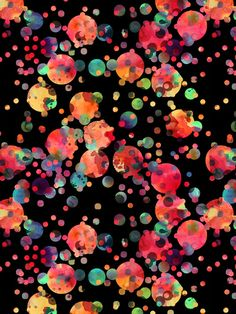 Confetti Art Print By SchatziBrown #spots #dots #polka dots