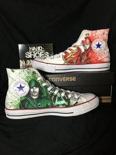 Arrow and Flash hand drawn shoes Converse One of by AlzadoCompany
