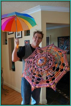 Crochet parasol, lots of patterns and fun!