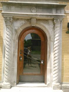 Don't make doors like this anymore.  1151 S. Oak Park Ave apartment building. #OakPark