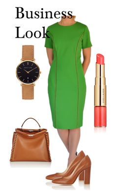 Green Business by tubino-skirts-dresses on Polyvore featuring mode, Gianvito Rossi, Fendi, Abbott Lyon and Estée Lauder