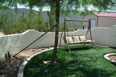 Nice quiet spot to enjoy your coffee or read a book at Casa Cahava B&B in Cave Creek, AZ - Clothing Optional Home Network