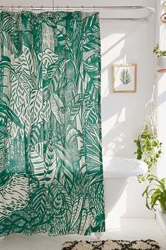 Saskia Pomeroy Plants Shower Curtain | Urban Outfitters