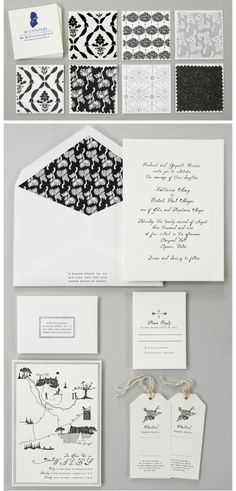 Black and white wedding stationary suite. Wedding Gallery, Wedding Blog, Wedding Suite, Wedding Ideas, Dream Wedding, Wedding Invitation Design, Wedding Stationary, Wedding Paper, Wedding Cards