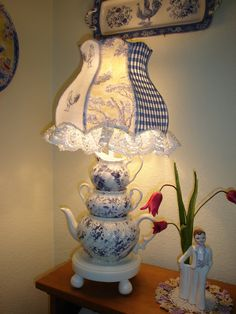 All You Need To Know About Bedroom Lamps – Beautiful Lamps Shabby Chic Furniture, Shabby Chic Decor, Shabby Chic Lamp Shades, Tea Cup Lamp, Teacup Crafts, Lampe Decoration, Cute Cottage, Bedroom Lamps, Country Decor