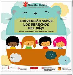 """""""Save the Children"""" publica libritos y posters sobre la """"Convención sobre los Derechos del Niño"""" en versiones para distintas edades. Pueden trabajarse en el aula con motivo del Día de los Derechos del Niño, 20 de Noviembre."""