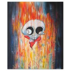 """""""Fracture"""" Original acrylic painting By. Gallery Funk Art, Denmark  Price DKK. 3.200,-"""