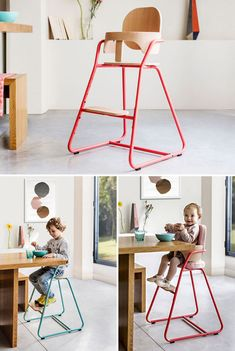 14 Modern High Chairs For Children // A simple chair that can be left as is or embellished with various pillows, straps, and trays, this high chair can be used for any occasion, be it eating dinner with the family or hanging out while mom and dad cook.