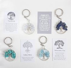 Tree of life keyring, tree keyring, blue keyring, gemstone keyring, blue keyring Blue Lace Agate, Inspirational Gifts, Vintage Gifts, Little Gifts, Small Gifts, Craft Gifts, Gifts For Him, My Etsy Shop, Just For You