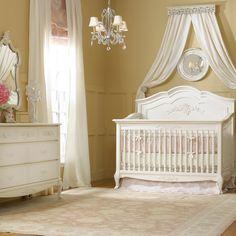 Dolce Babi Angelina 2 Piece Nursery Set in French Vanilla Crib, Double Dresser
