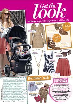 PRINT - Practical Parenting & Pregnancy August 2011: Celeb mum fashion – Isla Fisher