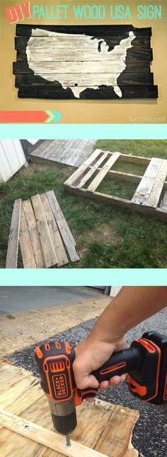 DIY Pallet Wood Sign