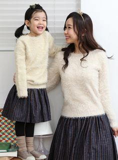 """Today's Hot Pick :Long Sleeve Eyelash Knit Pullover http://fashionstylep.com/SFSELFAA0002543/funnylove09en/out Providing you with the best in coordinated family clothing, or """"Family Look"""" straight from the heart of fashion - Seoul, Korea! All our products are made from high quality materials and made with your family in mind. If you have questions about specific sizing, please feel free to contact us!"""