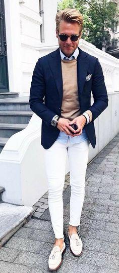 6cfa923e56 Style for men  whitejeansformenoutfits Schick