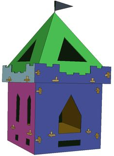 This kid's castle playhouse is securely held together using a 'lug and plug system'. It is easy to assemble and easy to dismantle. Castle Playhouse, Wood Playhouse, Kids Castle, Wood Joints, Teen Kids, Niece And Nephew, Maine House, Live Long, Wood Veneer