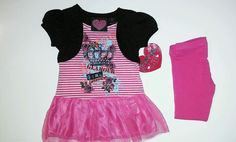 New w tags Toddler girls size 3t gorgeous pink 2 piece outfit #DressyEverydayHoliday