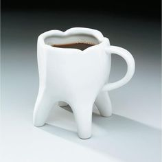 Tooth Coffee Mugs & Dental dibujo Dental Humor, Dental Hygiene, Dental Health, Dental Puns, Dental Quotes, Dental Life, Dental Art, Teeth Shape, Gifts For Dentist