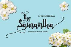 Samantha Font @creativework247 Calligraphy Writing Styles, How To Write Calligraphy, Calligraphy Fonts, Modern Calligraphy, Cursive Fonts, Handwritten Fonts, New Fonts, Samantha Font, Letter Blends