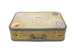 Old luggage is so beautiful.  I like to think about all the trips that case has seen.  Suitcase by PhatHeads on Etsy, $32.00