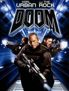Dwayne Johnson and Karl Urban in Doom Horror Movie Posters, Cinema Posters, Horror Movies, Doom Movie, Movie Tv, Fiction Movies, Science Fiction, Dwayne Johnson Movies, Movies