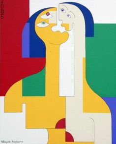 "Saatchi Art Artist Hildegarde Handsaeme; Painting, ""2  in 1"" #art"