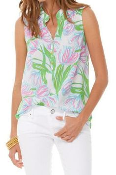 Lilly Pulitzer Houston Sleeveless Top in Ring the Bellboy