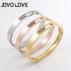54c0a4b7ccd8 Free Shipping Wholesale Jewelry Crystal Hollow Bangles Titanium Steel Woman  Fashion