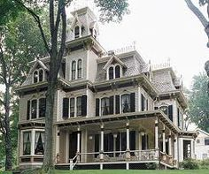 """Lovely """"Second Empire Victorian"""",  with mansard roof."""