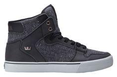 Supra Vaider Faux Leather Hi Top Skateboard Hip Hop Fashion Sneaker Footwear   SUPRA  SneakerShoes 935d57761bb