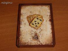 Box of poker cards Sheet Pan, Poker, Cards, Springform Pan, Maps, Playing Cards