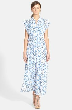 Rebecca+Taylor+Tie+Dye+Silk+Maxi+Dress+available+at+#Nordstrom