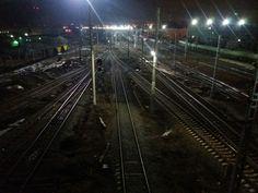 Night railway. Saratov. Russia