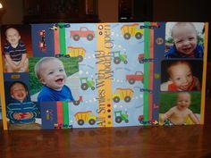 Little boy scrapbook page