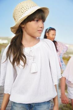 Buy Tassel Embroidered Blouse (3-16yrs) from the Next UK online shop