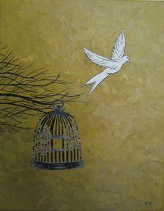 "Saatchi Online Artist: Katie Gunther Novella; Pen and Ink, 2010, Drawing ""Escape"""
