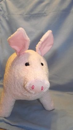 Pink Pig Blossom Stuffed Animal Pattern to Sew by berylclairesark, $7.59