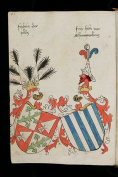 Wappen - Ehewappen von Schwarzenberg / Alliance Coats of Arms of Schwarzenberg / Armas de Alianza de Schwarzenberg