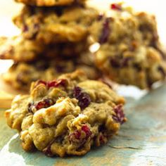 Oatmeal Cranberry White Chocolate Chip Cookies... Probably do it without the white chocolate chips