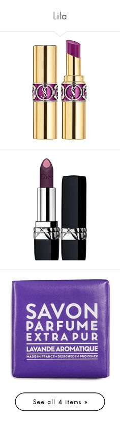 """Lila"" by sukia ❤ liked on Polyvore featuring beauty products, makeup, lip makeup, lipstick, beauty, pink, lip gloss makeup, yves saint laurent lipstick, gloss lipstick and shiny lipstick"