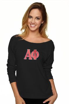 Alpha Phi Slouchy Pullover by Navika Girl