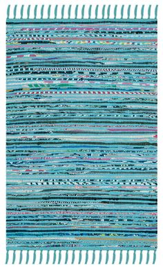 Safavieh Turquoise Rag Rug