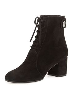 S0BCZ Gianvito Rossi Suede Lace-Up Ankle Boot