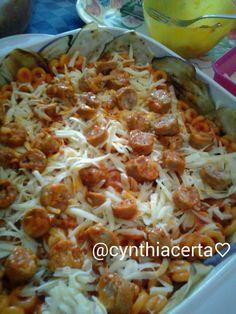 Pasta:Anelletti al forno con ragù di salsiccia e formaggio. @cynthiacerta♡